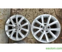 44* Продам ориг диски Volkswagen R16 5x112 Jetta Touran Caddy Passat - Фото 2