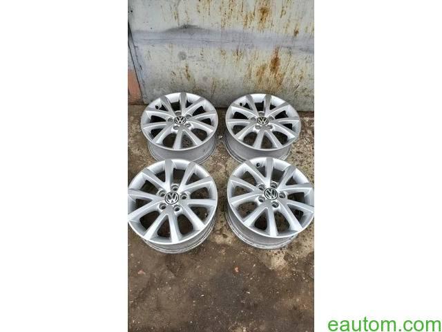 44* Продам ориг диски Volkswagen R16 5x112 Jetta Touran Caddy Passat - 7