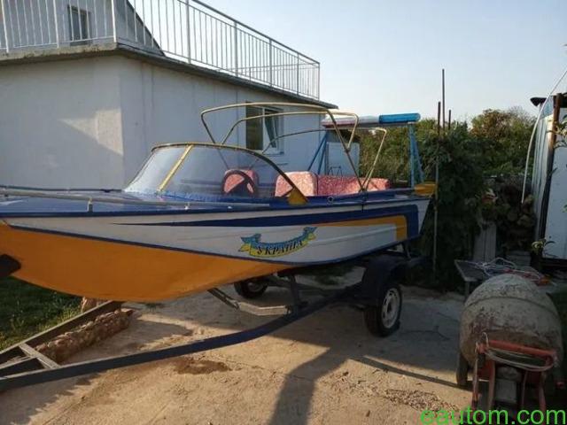 Продам лодку Дніпро з лафетом, мотором !! - 5