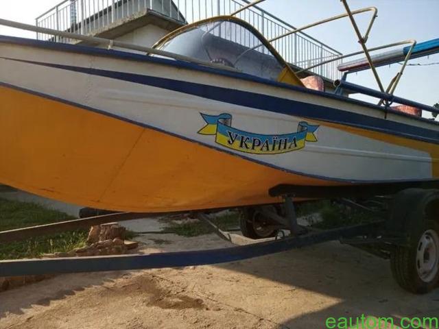 Продам лодку Дніпро з лафетом, мотором !! - 7