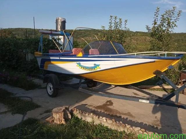 Продам лодку Дніпро з лафетом, мотором !! - 8