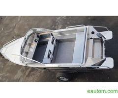 Алюминиевая лодка windboat 42МЕ - Фото 3