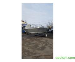 Алюминиевая лодка windboat 42МЕ - Фото 5